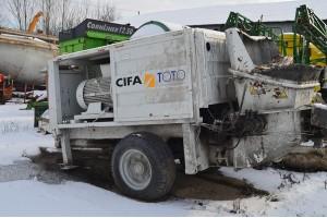 Pompa de beton mobila CIFA PC707
